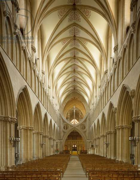 Internal view of the Cathedral of Wells, 1174-1191 (photography)