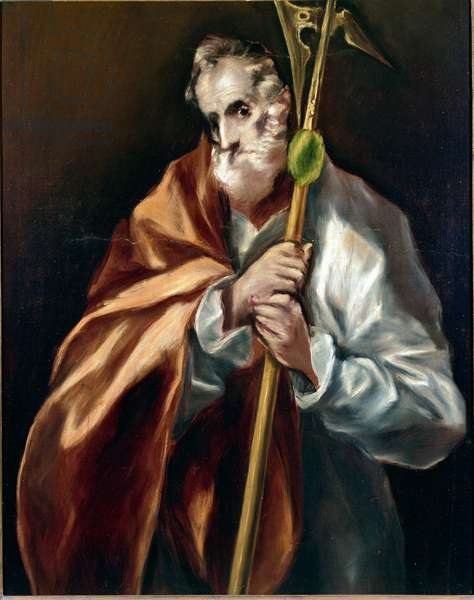 Apotre Saint Jude Thadee. Painting by Domenikos Theotokopoulos dit El Greco (1540-1614), 1610-1614. Oil on canvas. Dim: 97x77cm. House and Musee El Greco, Toledo, Spain.