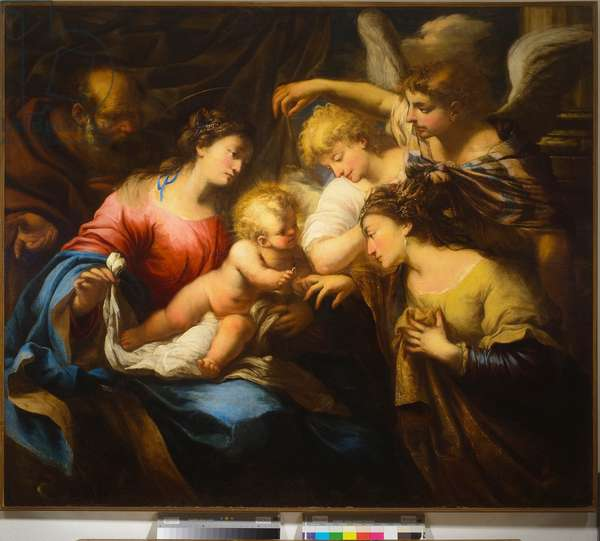 Mystical Marriage of Saint Catherine (oil on canvas)