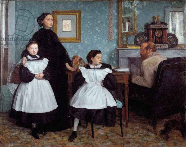 Portrait of the Bellelli Family (oil on canvas, 1858)