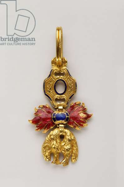 Order of the Golden Fleece: Austrian Golden Fleece - Decreation of insignia - 1850-1900 - French Poincon (from 1893) - Gold and Emaux - H: 5.3 cm; W: 3.3 cm; Weight: 22 g - Private collection