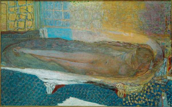 Naked in the bath Naked woman in a bathtub. Painting by Pierre Bonnard (1867-1947) 1937 Dim. 93x147 cm Paris, Musee du Petit-Palais