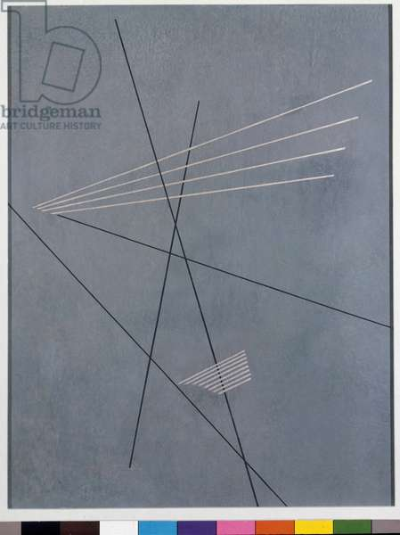 Linear construction Painting by Aleksander Mikhailovich Rodchenko (Alexander Mikhailovich Rodchenko) (1891-1956) 1919 Geneve Museum of Art and History