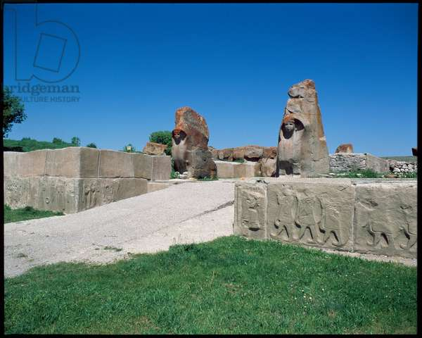 View of the Gate of the Sphinx, 14th century BC