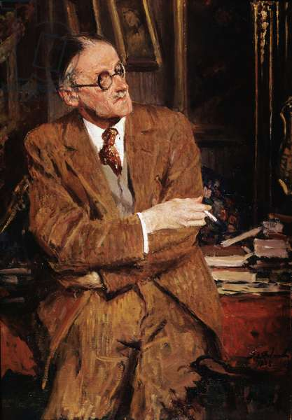 Portrait of James Joyce, 1935 (oil on canvas)