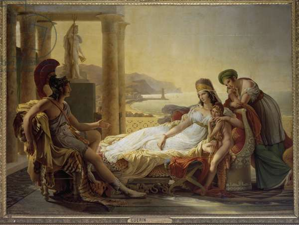 Aeneas telling Dido of the Disaster at Troy, 1815 (oil on canvas) - Aeneas telling Dido of the misfortunes at Troy - Painting by Pierre Narcisse Guerin (1774-1833), oil on canvas, 295x390 cm, 1815. Paris Louvre Museum
