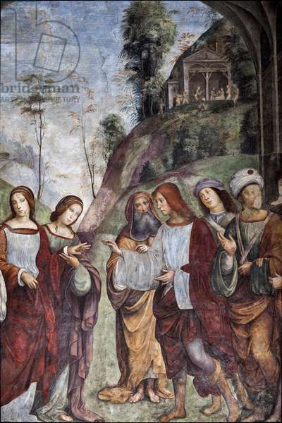 Life of St Cecilia: Wedding of St Cecilia and Valerian, detail (fresco, 1506)