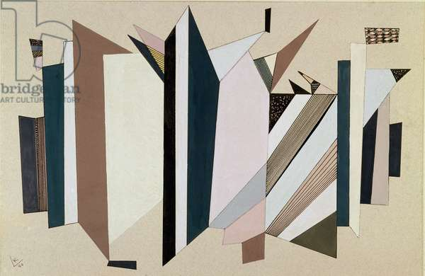 Untitled Painting by Vassily Kandinsky (or Wassily Kandinski or Kandinskij, 1866-1944) 1940 Bale, private collection