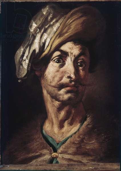 Man's head with turban