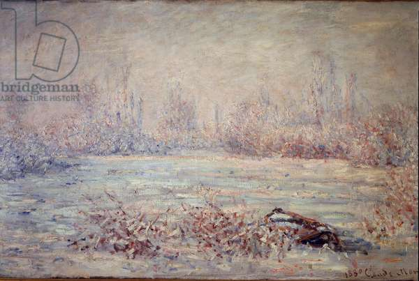 Frost near Vetheuil - Painting by Claude Monet (1840-1926), detail, 1880 - Oil On canvas - Musee d'Orsay
