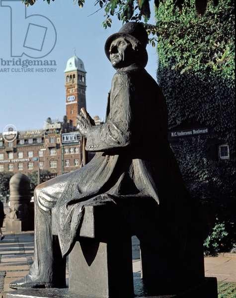 Statue of Danish writer Hans-Christian Andersen