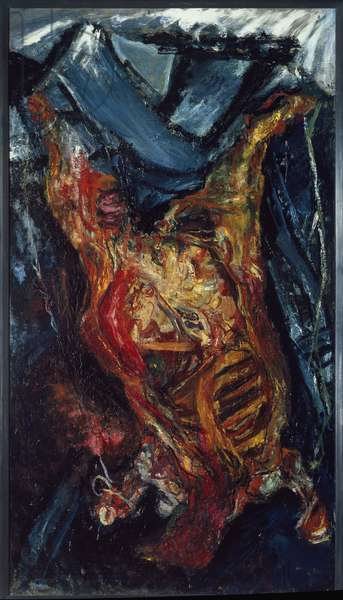 Beef bark - Painting by Chaim Soutine (1894-1943), oil on canvas, 202x114 cm, 1925. Musee de Grenoble, France