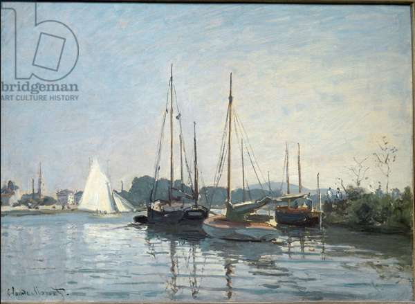 Pleasure boats in Argenteuil. (Oil On Canvas, 1872-1873)