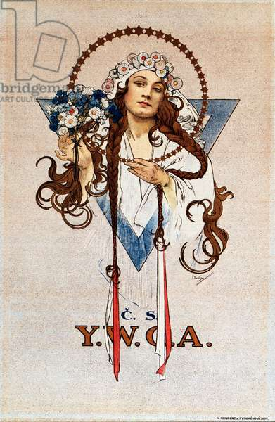 Czechoslovak YWCA Poster for the Young Women's Christian Association YWCA in Czechoslovakia Lithograph by Alphonse Mucha (1860-1939) 1922 Dim 54x82 cm Private collection