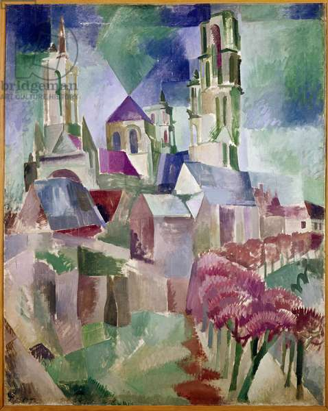Towers of Laon Painting by Robert Delaunay (1885-1941) 1912 Dim 130x162 cm Paris, Musee National d'Art Moderne