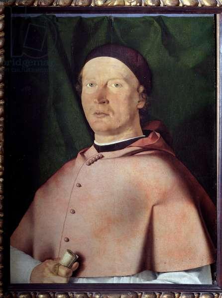 Portrait of the Eveque Bernardo de Rossi (1468-1527) (Portrait of Italian bishop and patron of the arts Bernardo de Rossi) Painting by Lorenzo Lotto (1480-1556) 1505 Dim 51,5x43,5 cm Naples, Museo di Capodimonte, inv Q 57