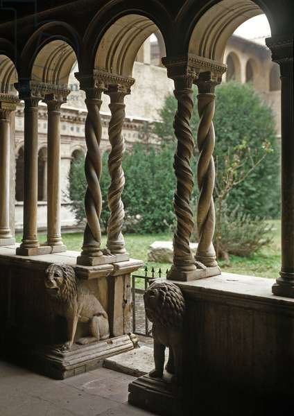 View of the cloister, 13th century