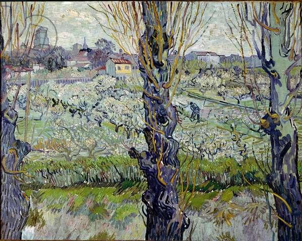 View of Arles. Painting by Vincent Van Gogh (1853-1890), 1889. Oil on canvas. Dim: 72x92cm Monaco, Neue Pinakothek