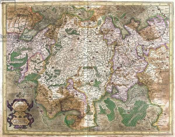 "Trier Lutzenburg, 1619: Luxembourg - in """" Atlas Ssive Corsmographicae Meditationes"""" by Gerard Mercator (Gerard de Kremer - Gerhard Kremer - Gerardus Mercator) (1512-1594), Duisburg 1596"