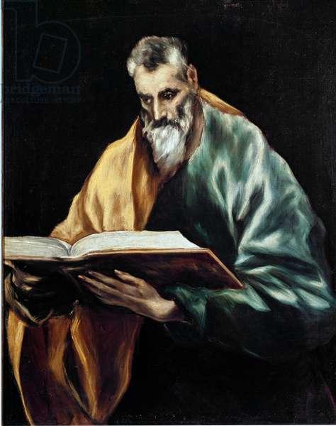 Apotre Saint Simon. Painting by Domenikos Theotokopoulos dit El Greco (1540-1614), 1610-1614. Oil on canvas. Dim: 97x77cm. House and Musee El Greco, Toledo, Spain.