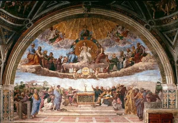 Disputa, from the Stanza della Segnatura, 1508-11 (fresco)