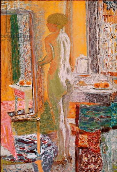 Nude in front of the ice Painting by Pierre Bonnard (1867-1947) 1933 Dim. 152x102 cm Venice, Galleria d'Arte Moderna