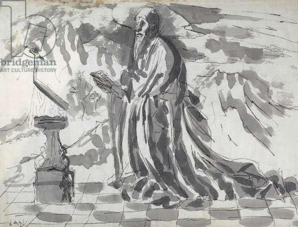 Saint Jerome, 1934 (w/c on paper)