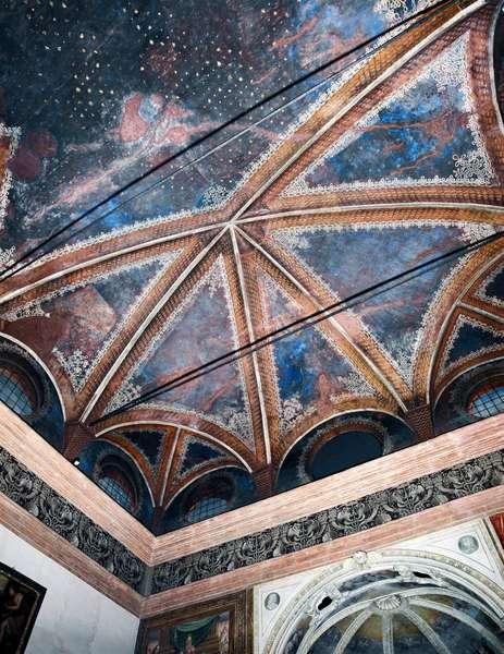 View of the vault of the sacristy of Bramante (Donato di Pascuccio) (1444-1514) Basilica di Santa Maria delle Grazie (View of the vault of sacristy of Bramante) Italy