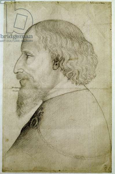 Bust of Holy roman emperor Sigismund of Luxembourg, 15th century (drawing)