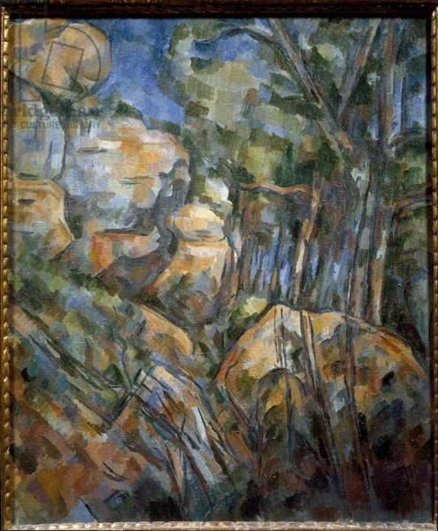 Rocks near the caves above Chateau Noir (oil on canvas, circa 1904)