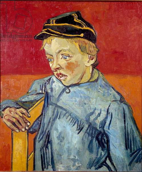 The school boy. Painting by Vincent Van Gogh (1853-1890), 1890. Oil on canvas. Dim: 63,5x54cm. Brazil, Sao Paulo, Museum of Fine Arts