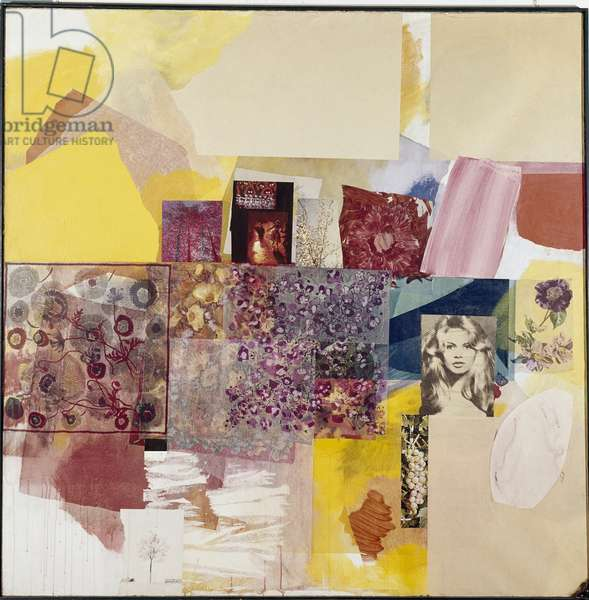 Tam tam for Brigitte Bardot 'Collage and painting by Tancredi (Tancredi Parmeggiani) (1927-1964) 1962 Private collection © Luisa Ricciarini/Leemage Attention! The use of this work may be subject to a request for authorization to a third party or to the payment of additional fees
