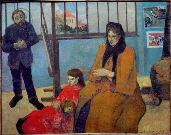Schuffenecker's Workshop or the Schuffenecker family (oil on canvas, 1889)