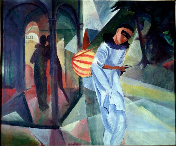 Pierrot. Painting by August Macke (1887-1914), 1913. Stadt-Kunsthaus, Bielefeld, Germany
