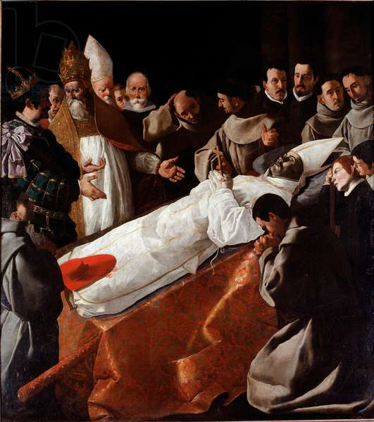 Saint Bonaventure's Body Lying in State, 1629 (oil on canvas)
