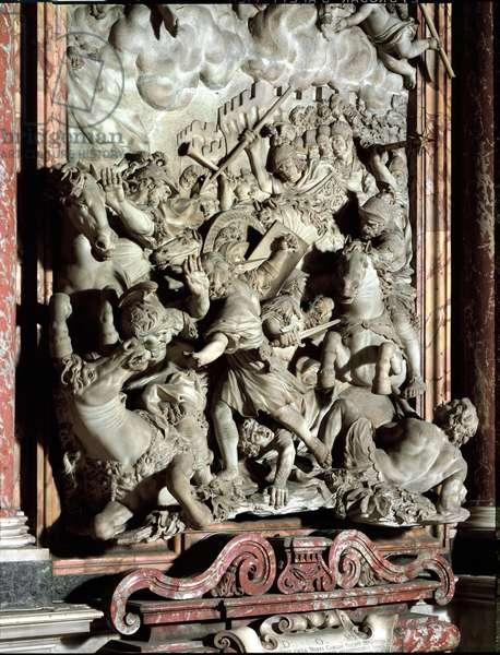 The Miracle of Saint Andre (Andrea) Corsini (1302-1373), Italian Carmelite and Eveque of Fiesole High Relief by Giovanni Battista Foggini (1652-1725) 1675-1699 Florence, Chiesa di Santa Maria del Carmine