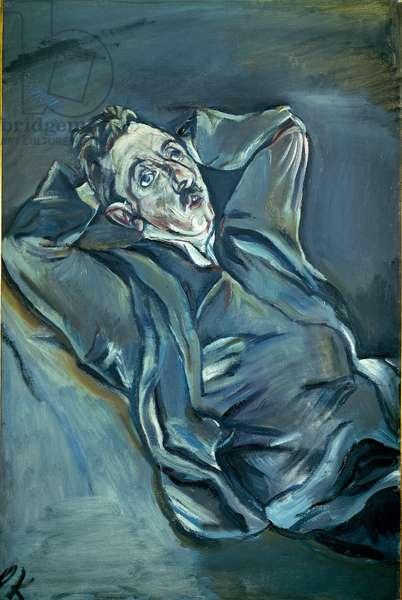 Portrait of Albert Ehrenstein (1886-1950) German expressionist poete. Painting by Oskar Kokoschka (1886-1980), 1913-1914. Prague, National Gallery.