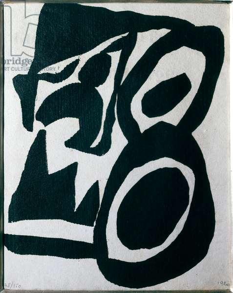 Tzara's Cinema Abstract Heart Calendar, 1920 (xylography)