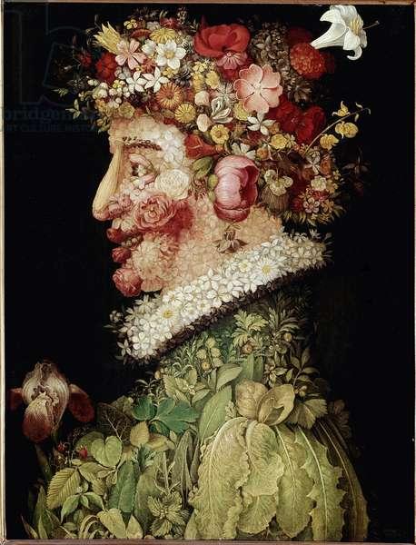 Spring Painting by Giuseppe Arcimboldo (1527-1593). 1589. Madrid. Real Academy of Bellas Artes de San Fernando, Madrid