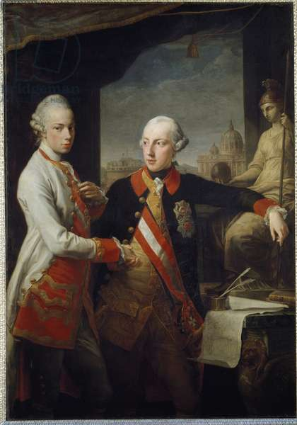 Portraits of the brothers Leopold II of Habsburg-Lorraine, Grand Duke of Tuscany and Joseph II of the Holy Empire, 18th century (painting)