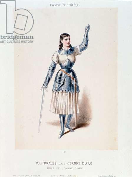 "Portrait of Miss Krauss interpreting Joan of Arc in the opera ""Joan of Arc at the Bucher"" oratorio by Arthur Honegger (1892-1955)"