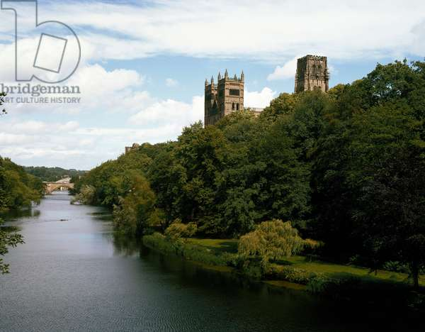 View of the cathedral of Durham, 1093 (photography)
