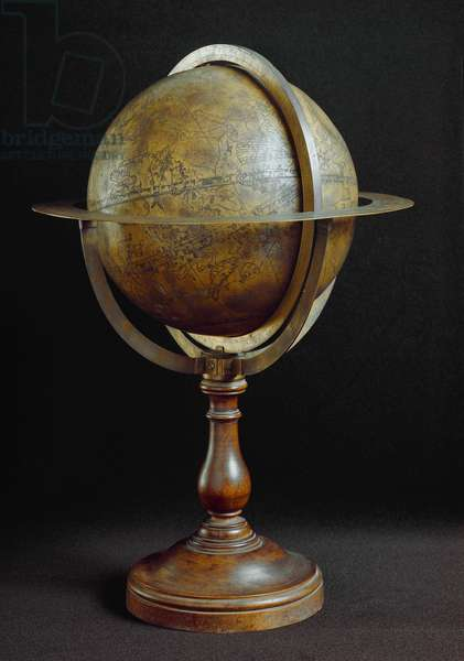 Arabic celestial brad globe built in 1085 by Ibrahim 'Ibn Said as Sahli in Valencia. It would be the oldest Celestial globe. Diameter. 22 cm Florence, Istituto e museo di storia della scienza
