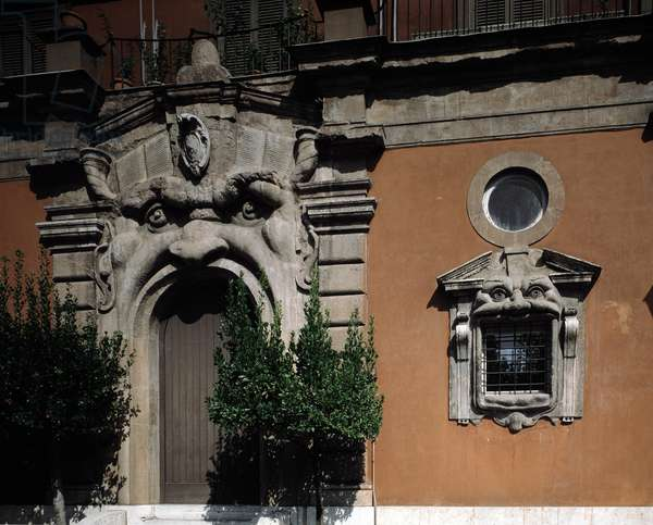 View of Zuccari Palace by architect Federico Zuccari (1540-1609) 1590-1598 (View of the palace Zuccari built by Federico Zuccari, 1590-1598) Rome, Italy