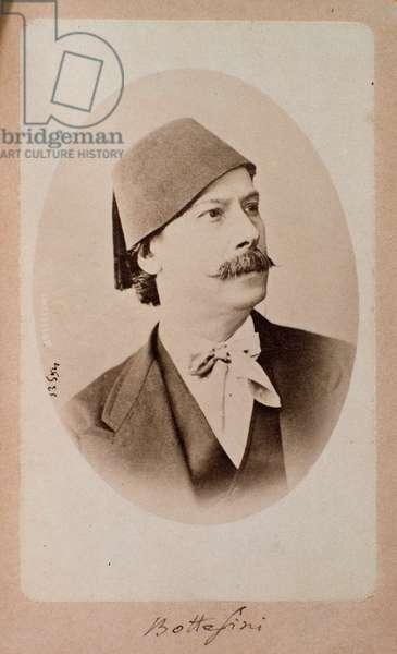 Portrait of italian conductor, double bass musician and composer Giovanni Bottesini (1821-1889) Photograph. 19th century Bologna, civico museo bibliografico musicale