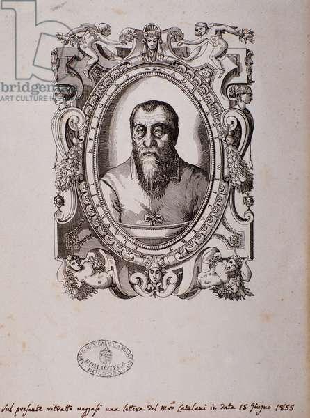 Portrait of Adrian Willaert (woodcut, 16th century)
