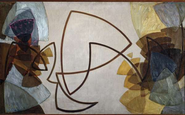 Solo for a brown line (Solo for a brown line) Painting by Frantisek Kupka (1871-1957) 1912-1913 Dim 70x115 cm Prague National Gallery
