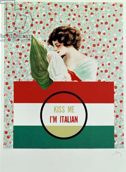 Kiss Me I'm Italian (Kiss Me, I Am Italian) Poster by Enrico Baj (1924-2003)