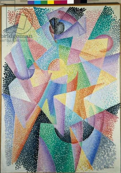 "Futurism: """" Dynamism of form-light in space"""" (Dinamismo di forme luce nello spazio) Painting by Gino Severini (1883-1966) 1912 Dim 100x73 cm Rome, Galleria Nazionale d'Arte Moderna"