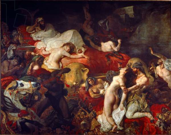 The Death of Sardanapalus, 1827 (oil on canvas)